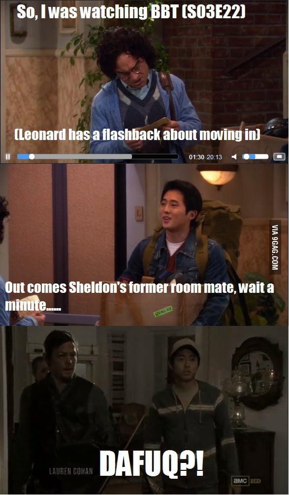 Sheldon's room mate, now zombie killing machine!
