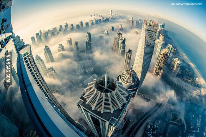 Taken from 85th floor Princess Tower, Dubai Marina.