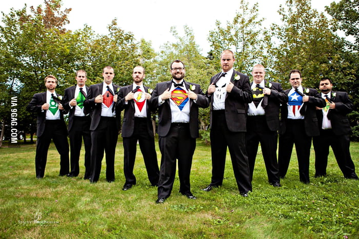 How my bros showed up at my wedding. You guys are awesome!