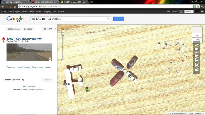 Dead people on google maps. - 9 on