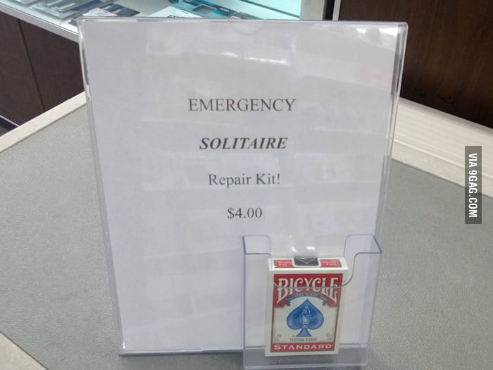 Emergency Solitaire Repair Kit!