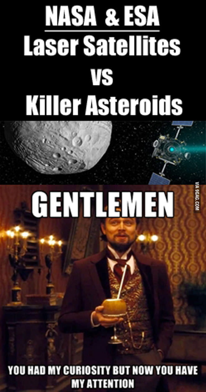 DiCaprio on Laser Satellites