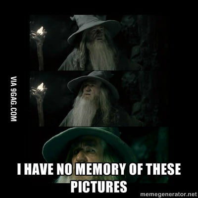 When I see pictures after a party ...