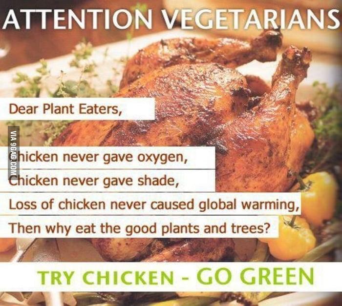 Dear vegetarians... Go Green!