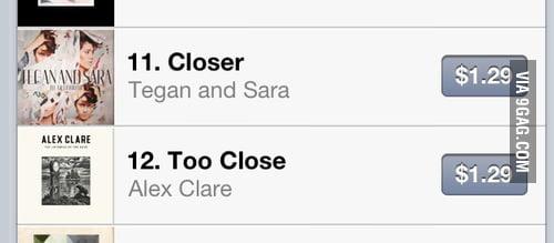 Closer, no, too close.