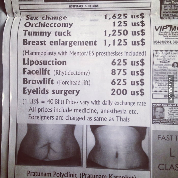 Meanwhile, in the Classifieds of a newspaper in Thailand - 9GAG