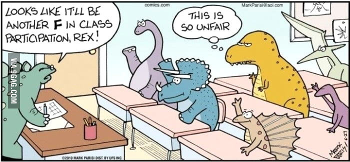 Poor T-Rex. Life is unfair.