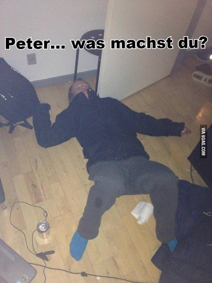 Peter... was machst du?