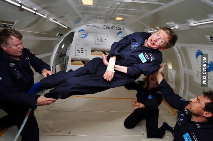 Stephen Hawking in 0 gravity!