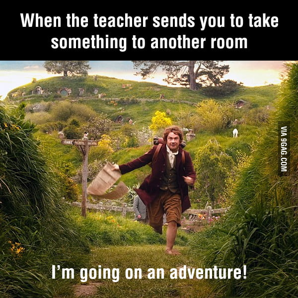 Whenever a teacher sent me to another room.