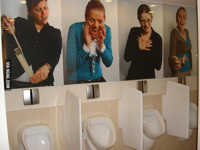 Men's toilet humor in Belgium.