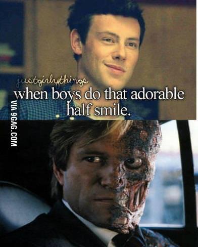When boys do that half smile...