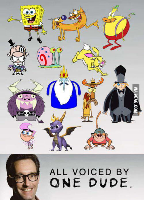 All voiced by one dude