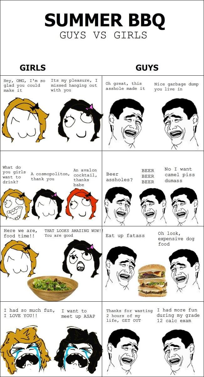 Summer BBQ: Guys vs Girls
