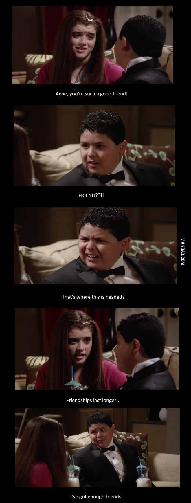 How to handle the friendzone, Modern Family style.