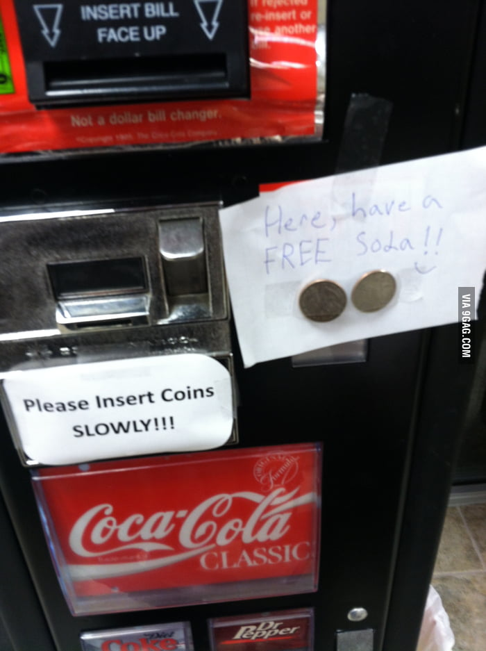 So, I saw this on the vending machine today