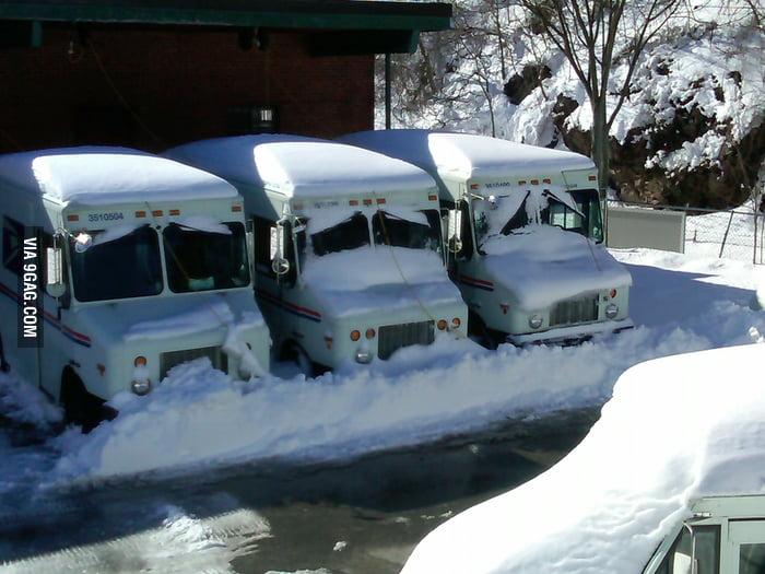 Sad, sadder, saddest mail-trucks