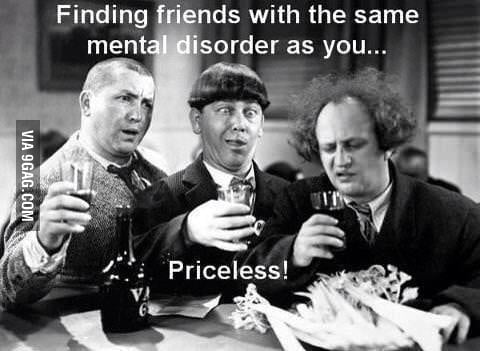 Finding friends with the same mental disorder