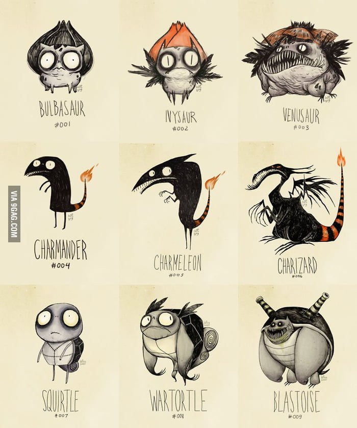 If Pokemon were drawn by Tim Burton