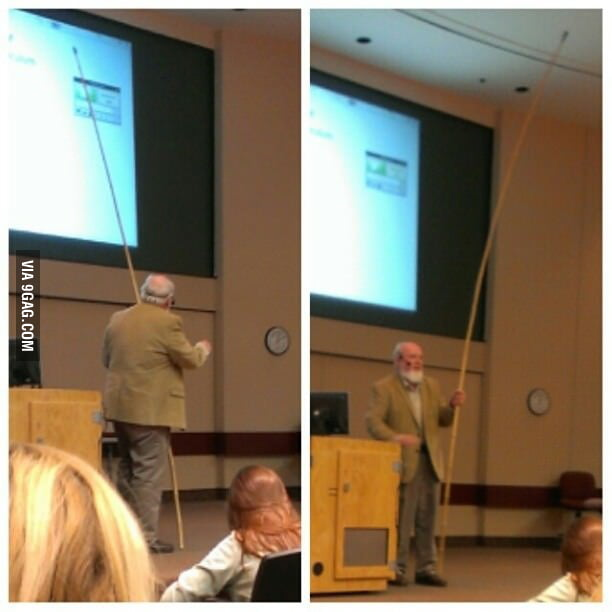 My professor has a better solution than a laser pointer.