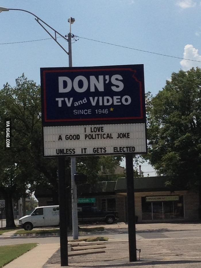 I love a good political joke...