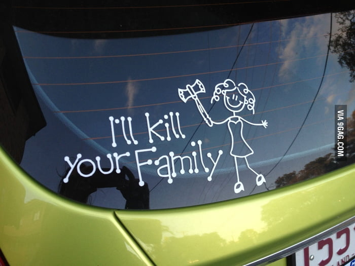 One of the best car stickers I have ever seen!