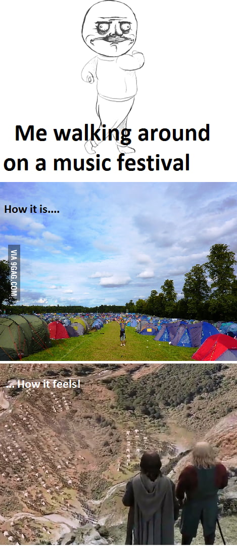 In a music festival...