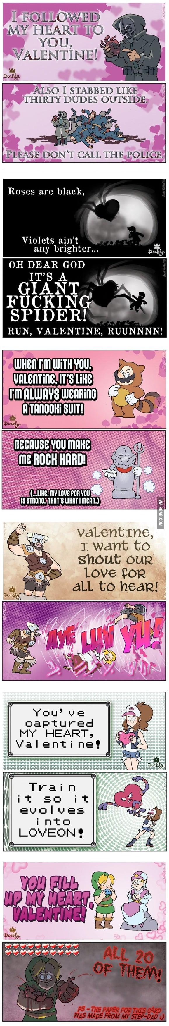Videogame Valentines