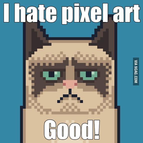 i hate pixel art