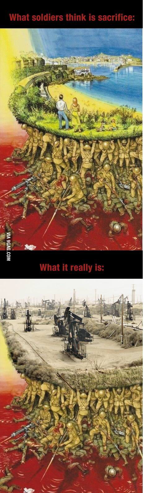 What soldiers think is sacrifice