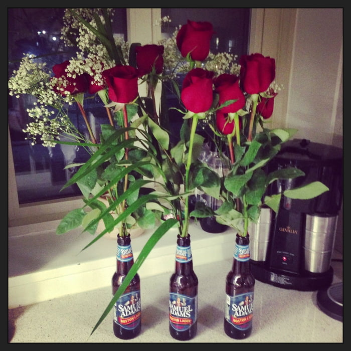 That awkward moment when you realize you don't own a vase...