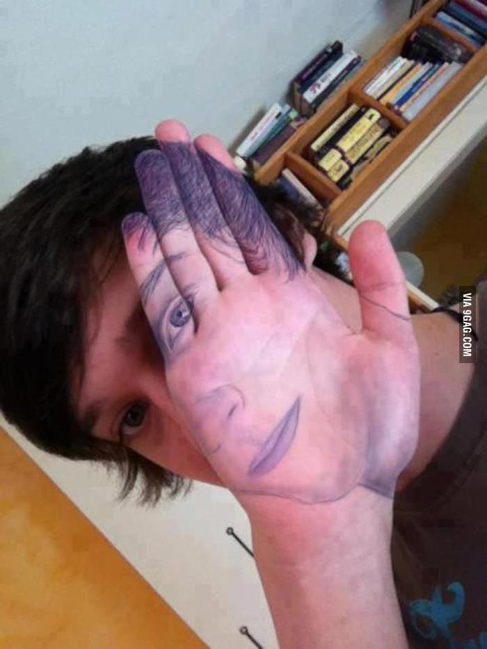 Artistic facepalm.