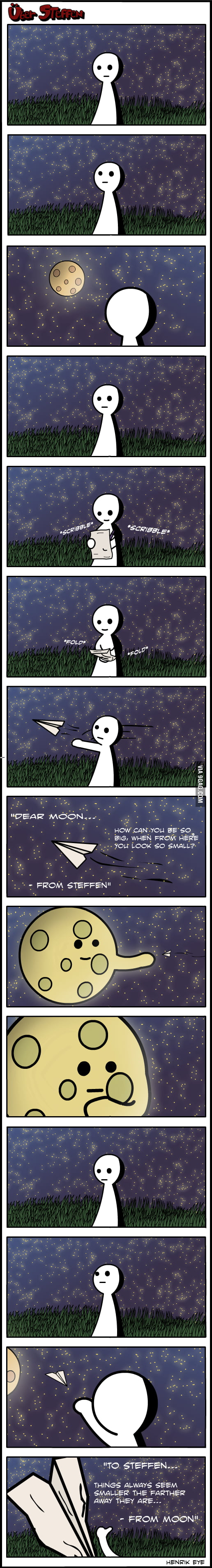 A letter to the moon