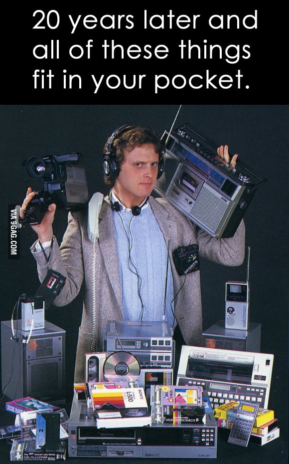 20 years later and all of these things fit in your pocket.