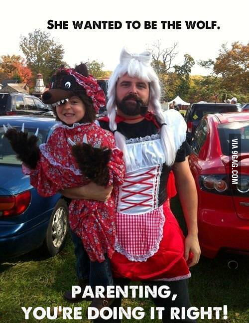 Cos-play level: AMAZING DAD