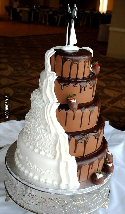 Cool twist on a wedding cake!