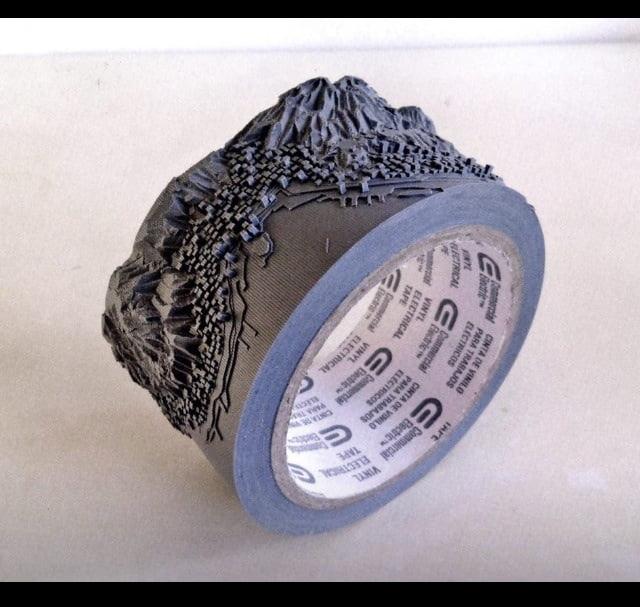 Amazing duct tape art