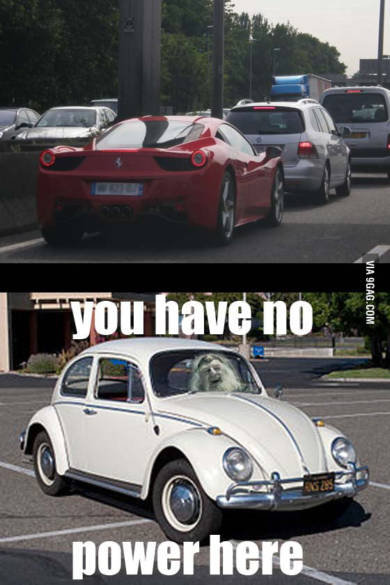When I see a sports car in traffic..