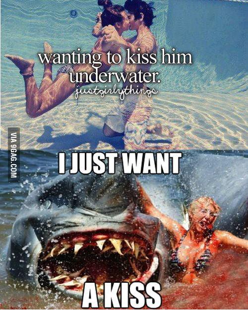 Kiss me underwater..!
