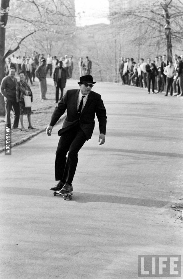 Skateboarding in NYC in the 1960s... Like a Sir!