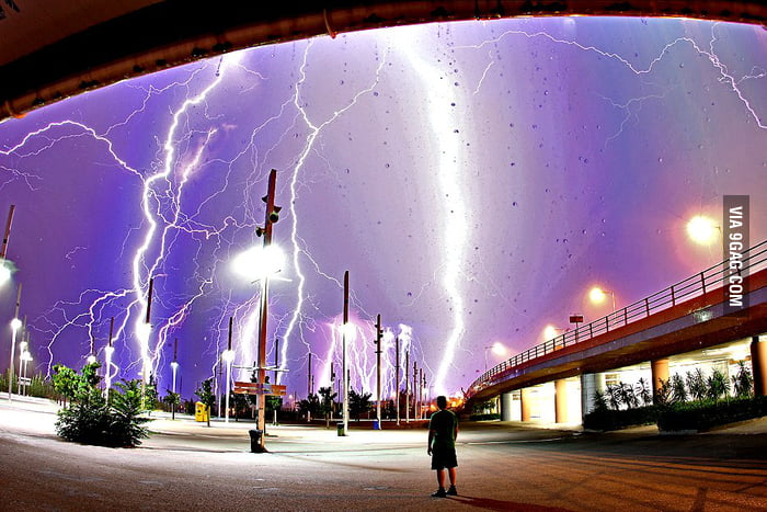 Lightning over Athens
