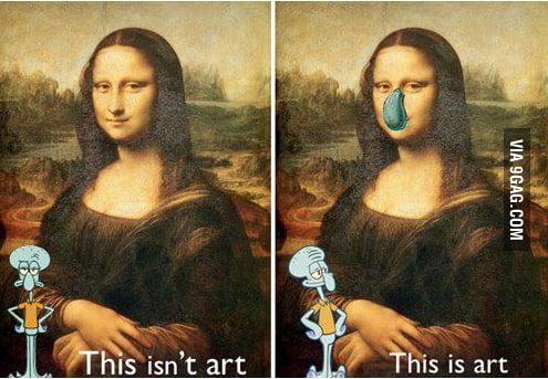 Squidward on art