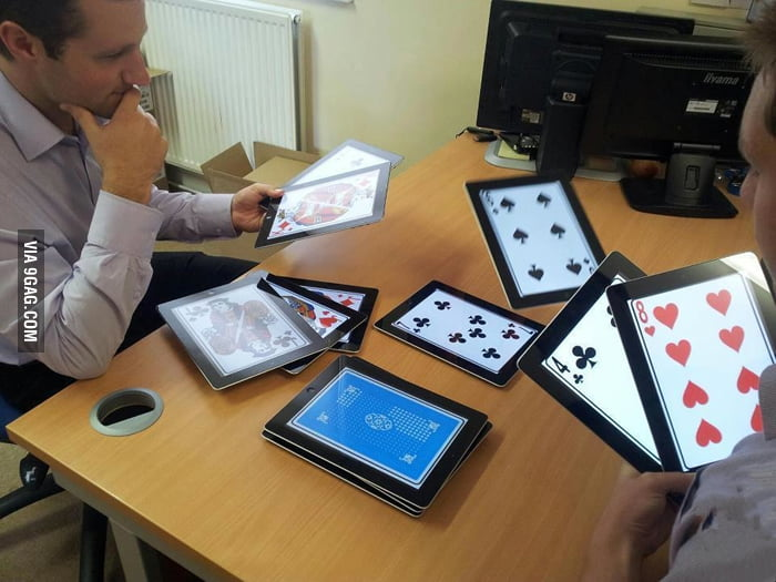 They say playing poker on iPad is better. I agree.