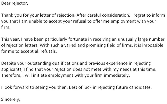 epic rejection letter