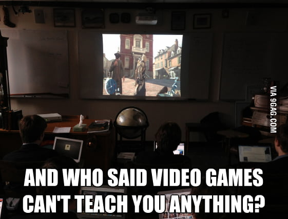 US history class with Assassin's Creed 3