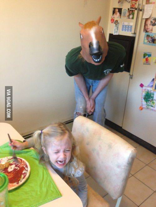 The right way to use your horse mask if you have kids