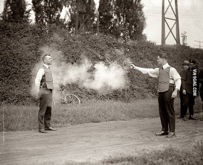Testing the first bulletproof vests