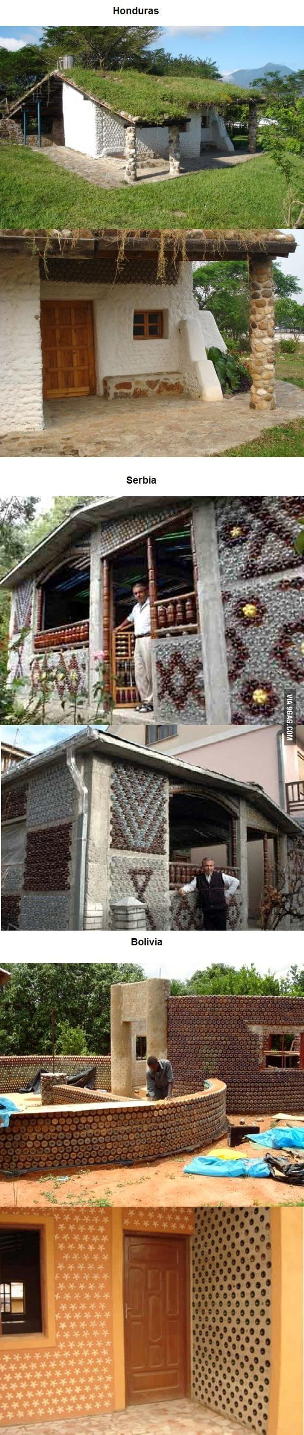 Amazing houses made of plastics bottles