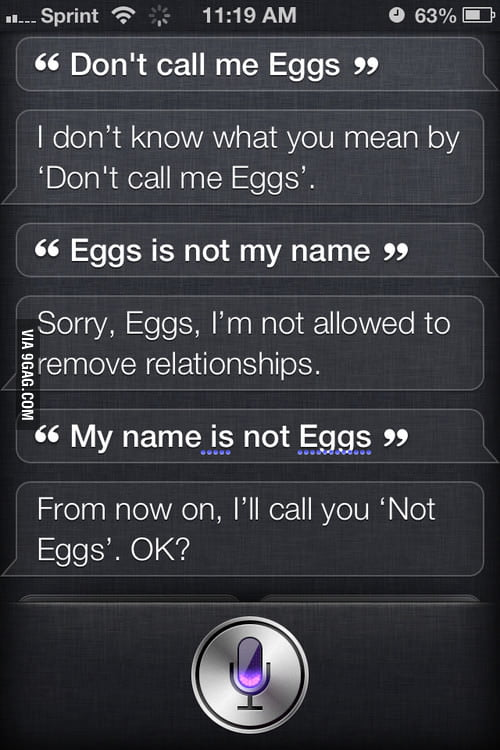 Well played Siri