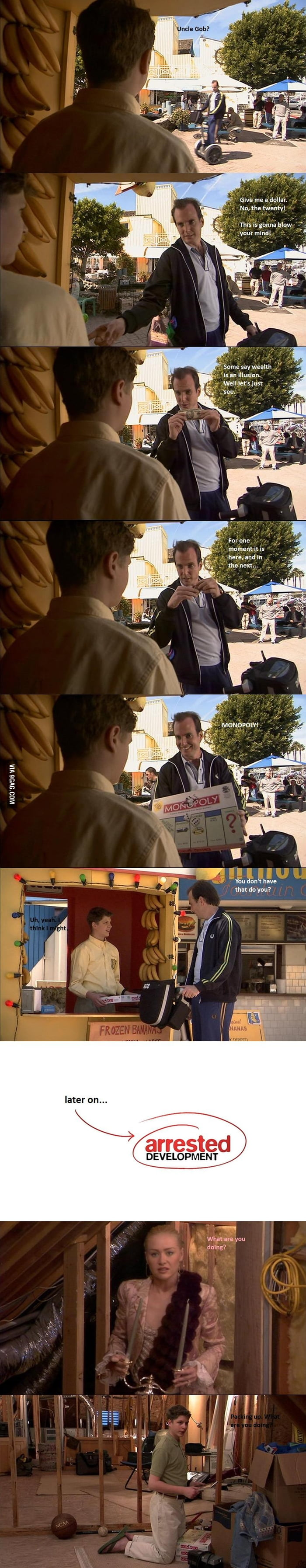 Went back to watch Arrested Development and found this little gem in the Pilot
